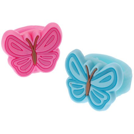 Dozen Butterfly Rubber Rings