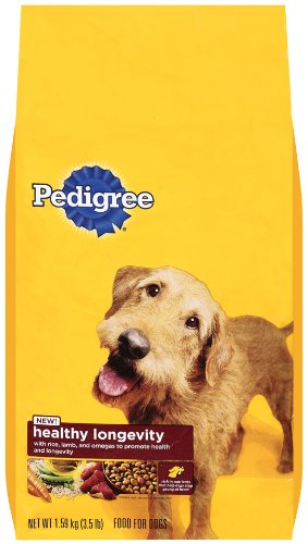 Pedigree Healthy Longevity Targeted Nutrition With Chicken And Rice Dry Dog Food, 3.5 Lb. Bag (Pack Of 5)