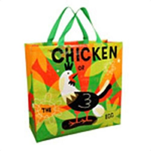 Blue Q Shoppers Chicken Or The Egg Reusable Tote Bags 16 X 15 223827 front-9194