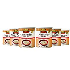Augason Farms Creamy Potato Soup Mix, 14-oz. Can, 6-pk by Augason