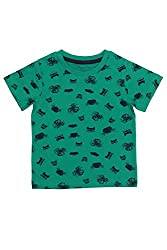 Chirpie Pie by Pantaloons Boy's Round Neck T-Shirt (205000005609839, Green, 3-6 Months)