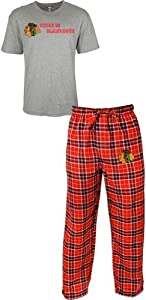 Chicago Blackhawks NHL Roster Mens T-shirt & Flannel Pajama Pants Sleep Set by Unknown