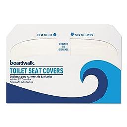 BOARDWALK K5000 Premium Half-Fold Toilet Seat Covers, 250 Covers/Sleeve, 20 Sleeves/Carton