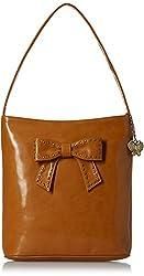 Butterflies Women's Handbag (Mustard) (BNS 0581MSD)