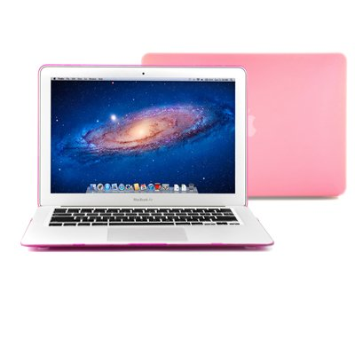 GMYLE� Pink Frosted See-Through Rubber Coating Hard Shell Lop off Snap On Case Cover for Apple 13 13.3 inches MacBook Air