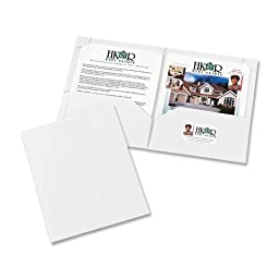 Wholesale CASE of 20 - Avery Laminated Corner Lock 2-Pocket Folders-2-Pocket Folder, Ltr, 20 Sht Cap., 10/PK, White