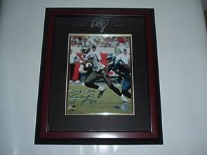 Michael Clayton Hand Signed Tampa Bay Buccaneers 8 x 10 Photo - Custom Framed by VIP Memorabilia