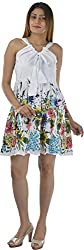 HotShot Women's Cotton V-Neck Dress (RH013, Large)