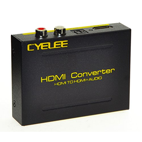 Best Prices! Cyelee Full HD 1080P 3D HDMI to HDMI + Optical SPDIF + RCA L / R Audio Video Extractor ...