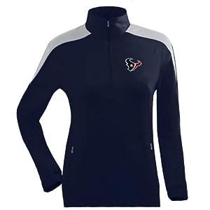 Antigua Ladies Houston Texans Succeed Front Fleece Half-Zip Pullover by Antigua