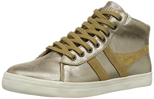 Gola Women's Lily Metallic Fashion Sneaker, Gold, 10 M US