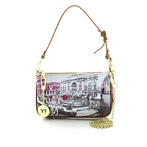 Y NOT? donna borsa a spalla F-312 PINK GIRL ROMA UNICA Stampa-Cuoio