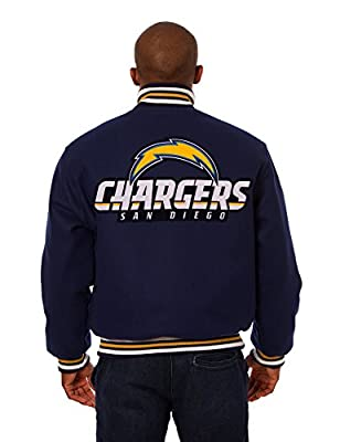 San Diego Chargers Jacket - Hand Crafted Wool w/Embroidered Applique Team Logos