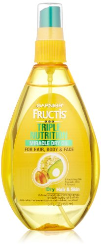 Garnier Fructis Triple Nutrition Miracle Dry Oil for Hair, Face, and Body, 5 Fluid Ounce (Hair Oil For Dry Hair compare prices)