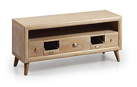 Hölzerner TV-Tisch : Kollektion BROMO 115x51x40cms.