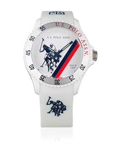 U.S. POLO ASSN. Orologio con Movimento al Quarzo Giapponese Cooper Bianco 44 mm