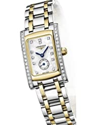 Longines Dolce Vita Two Tone Stainless Steel & 18k Gold Diamond Womens Watch L5.155.5.09.7