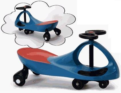 Cheap ProSource Premium Blue Wiggle Scooter Car