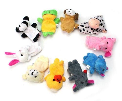 Marionetas de dedo - lote de 10 animales