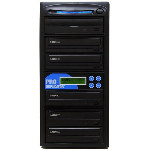Produplicator 1 To 5 24X M-Disc Support Cd Dvd Duplicators + Free Nero Software - ($20 Value) Copier Multiple Standalone Tower