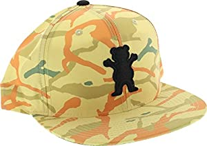 Grizzly Branch Camo OG Bear 6 Panel Tan Hat Adjustable
