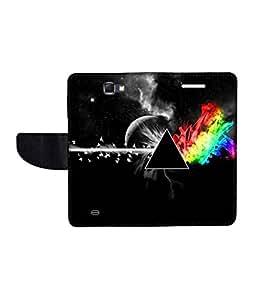 KolorEdge Printed Flip Cover For Samsung Galaxy Note 2 N7100 Multicolor - (55KeMlogo10080SamN7100)