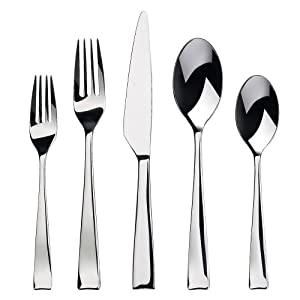 Gourmet settings strand 20 piece flatware set service for 4 kitchen dining - Gourmet settings silverware ...