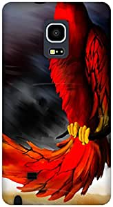 The Racoon Lean Red Parrot hard plastic printed back case / cover for Samsung Galaxy Note Edge