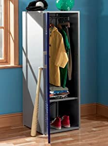 Powell Furniture Teen Trends Navy Blue Home Storage Kids Locker Coat Rack by Powell Furniture