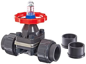 "Hayward PVC Diaphragm Valves, FPM Seal, 1-1/4"" Socket/Threaded"