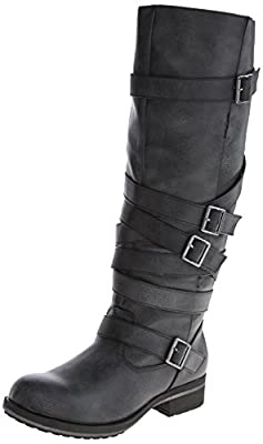 50e4f8f8dcf BUY! Madden Girl Women's Lilith Motorcycle Boot,Black,9 M US - QISKJ5ka