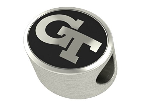 Georgia Tech Yellow Jackets Bead Fits Most Pandora Style Bracelets Including Pandora, Chamilia, Biagi, Zable, Troll and More. High Quality Bead in Stock for Immediate Shipping