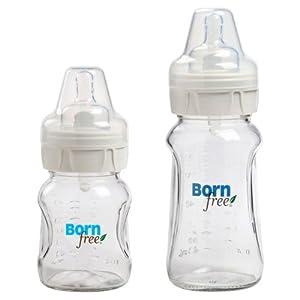 Born Free Wide Neck Glass Bottle 5oz & 9oz, Twin Pack