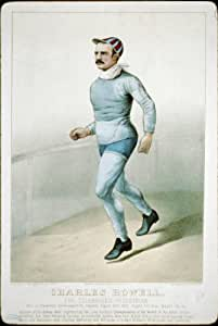 Photo Reprint Charles Rowell: The celebrated pedestrian 1879