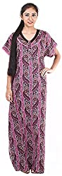 Milan Collection Women's Printed Dressing Gowns & Kimonos (MC-159_40, Pink, Size - 40)