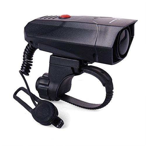 Rockbros [ 2-Clear Sounds ][ Included 2 Batteries ] Ultra-Loud Safe Lightweight Bike Horns Bicycle Bike Electronic Handlebar Ring Bell Alarm Horn Speaker Black Cs051