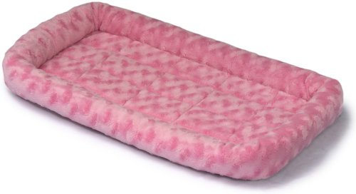 Midwest Quiet Time Fashion Pet Bed, Pink, 22 x 13