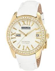 Haurex Italy Women's FY356DWY Magister L Silver Dial Crystal Watch