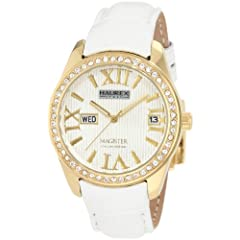 Haurex Italy Women's FY356DWY Magister L Silver Dial Crystal Watch