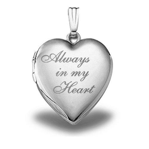 """Sterling Silver """" Always in My Heart """""""