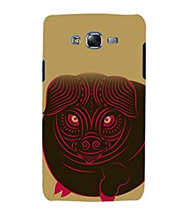 printtech South Asian Bull Design Back Case Cover for Samsung Galaxy A7 / Samsung Galaxy A7 A700F