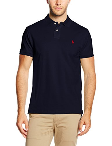 Ralph Lauren Small Logo Shirt, Polo Uomo, Newport Navy, L