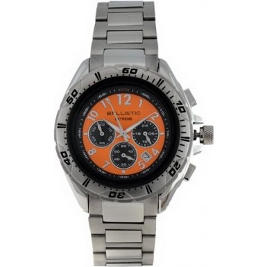 Ballistic Extreme Gents Stainless Steel Orange Dial Chronograph Watch