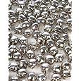 Chenille Kraft Jingle Bells - 15mm Silver - Pack of 72