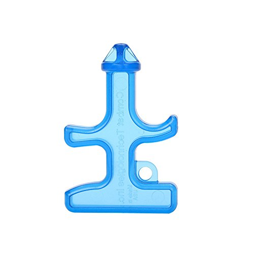 SHENFAN Self Defense Stinger Duron Drill Protection Tool Nylon Plastic Steel Keychain (Blue) (Drill Keychain compare prices)
