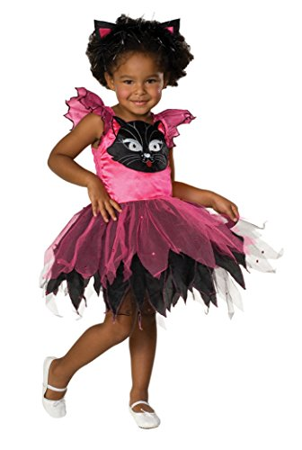 Girls Kitty Cat Kids Child Fancy Dress Party Halloween Costume