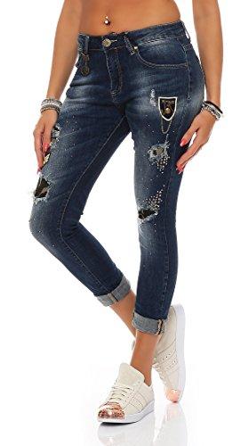 SKUTARI -  Jeans  - boyfriend - Donna Blue 6 X-Large