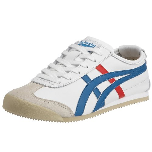 Onitsuka Tiger Mexico 66 Sneakers, Unisex Adulto, Bianco (White/Blue/Red 0146), 43.5 / 8.5 UK