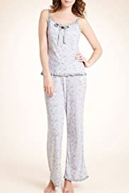 Limited Collection Floral Print Camisole Pyjamas [T37-2394-S]