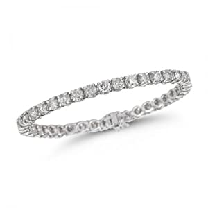 Classic Diamond Tennis Bracelet in 14K White Gold (H-I Color, I1-I2 Clarity) by Perfect Jewelry